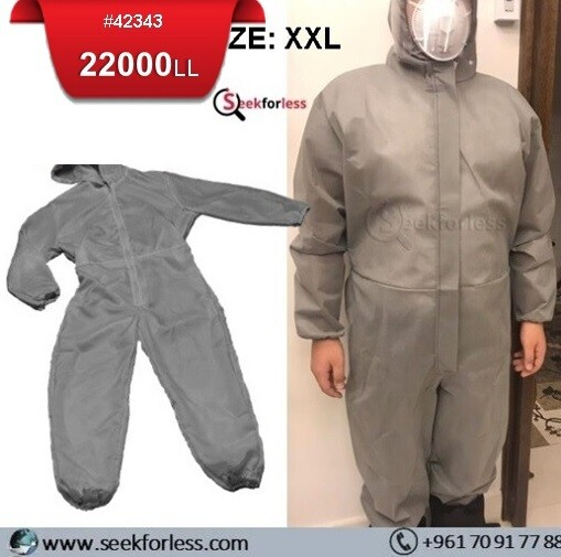 Coverall Suit With Hood - XXL