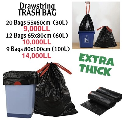 Drawstring Trash Bags (Thick)