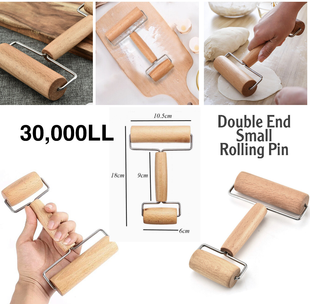 Double End Rolling Pin