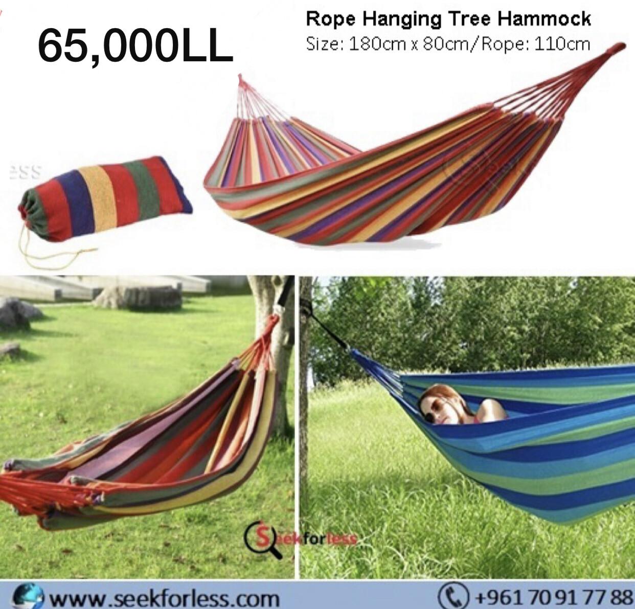 Rope Hanging Tree Hammock