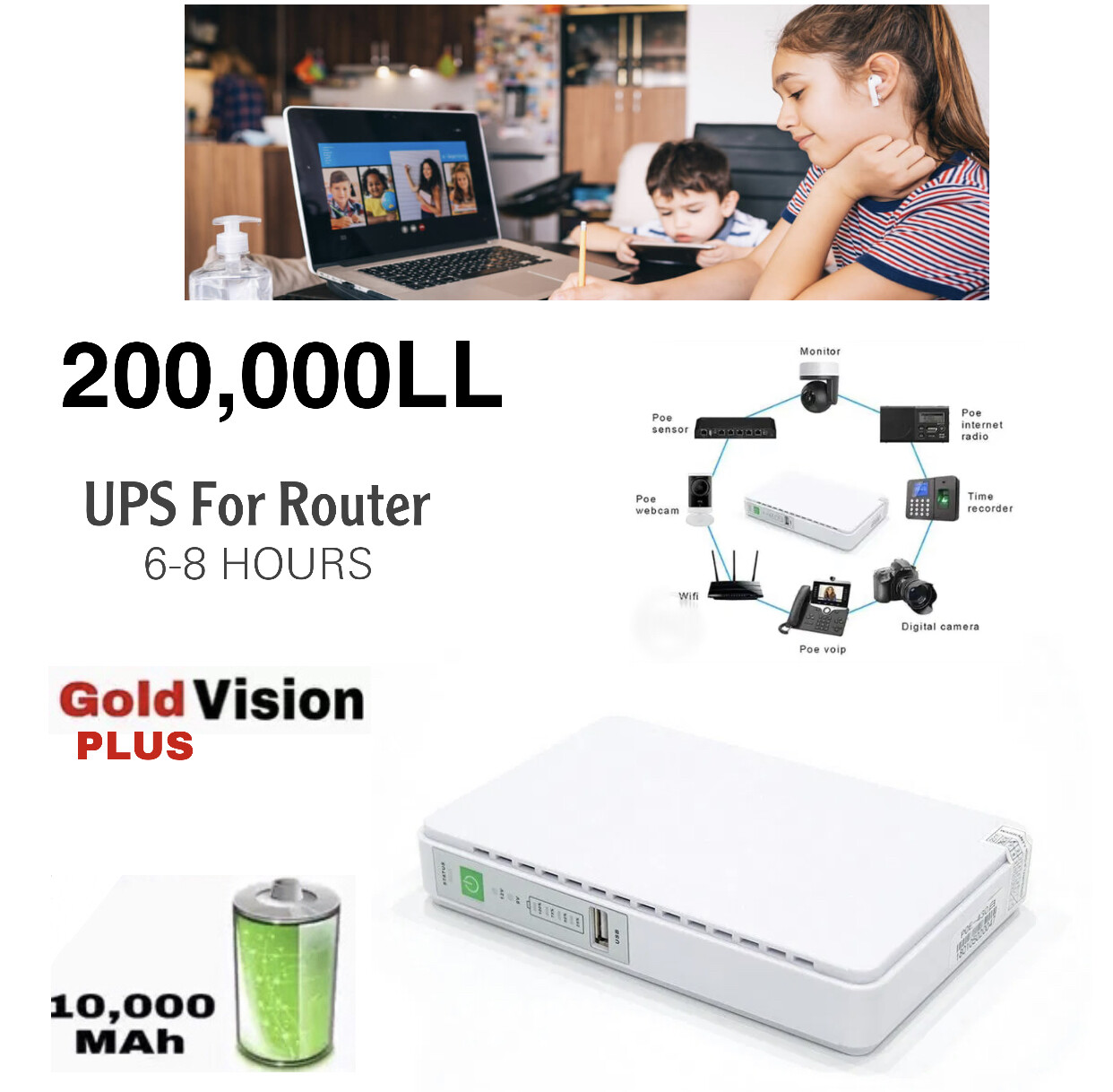 Mini UPS For Router