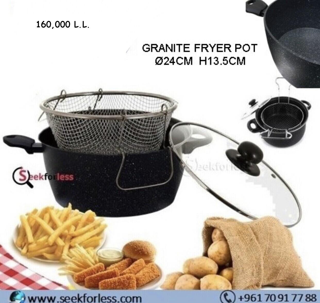 Granite Fryer Pot (24CM)