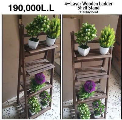 4-Layer Ladder Shelf
