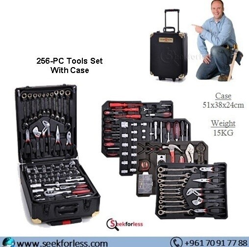 256-PC Tools Set With Case