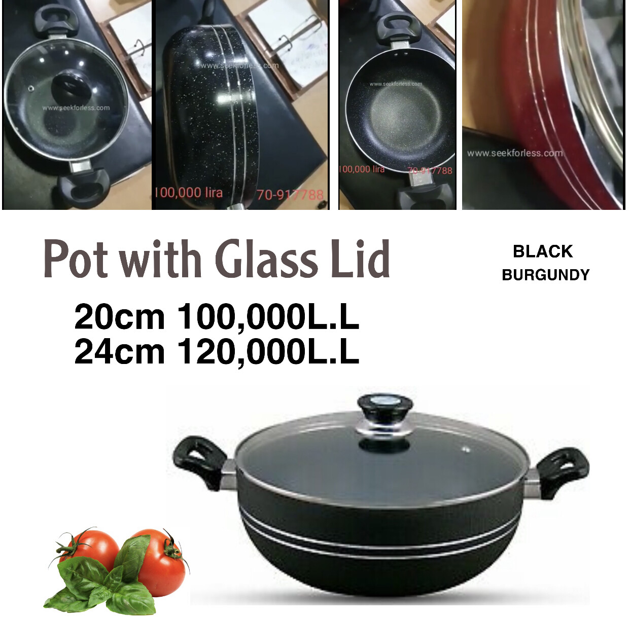 Pot With Glass Lid