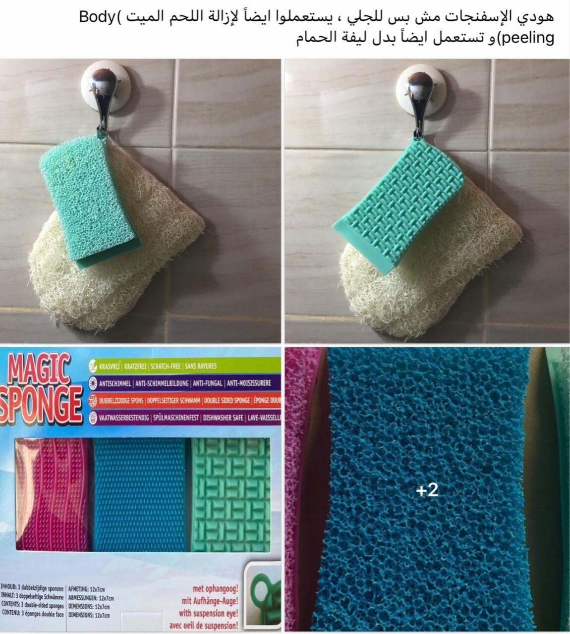 3-Pcs Silicone Sponge