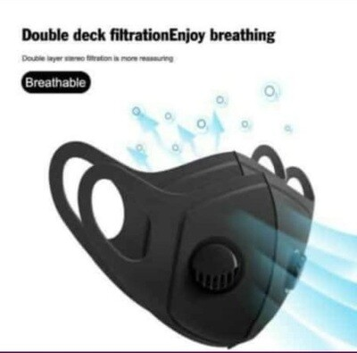 Face mask with 2 filters