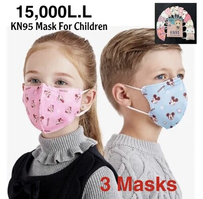 3-Pcs KN95 Children Mask (no filter)