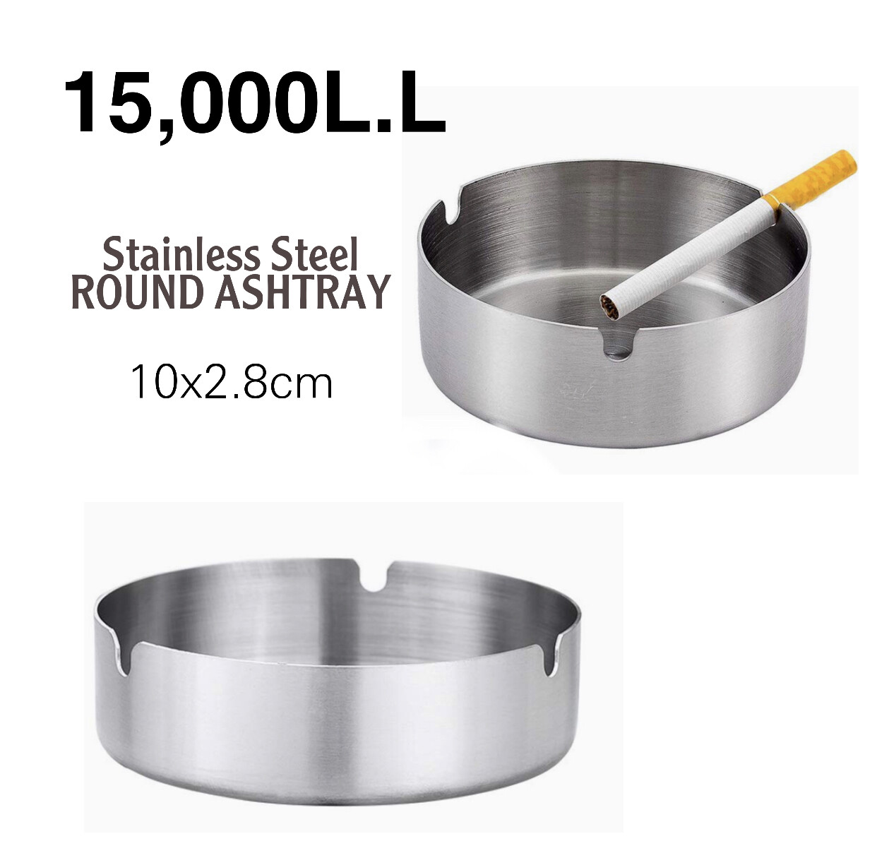Round Heavy Ashtray