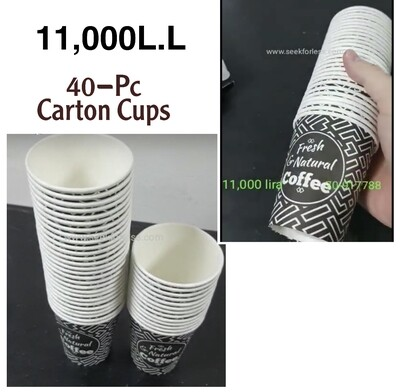 40–Pc Carton Cups
