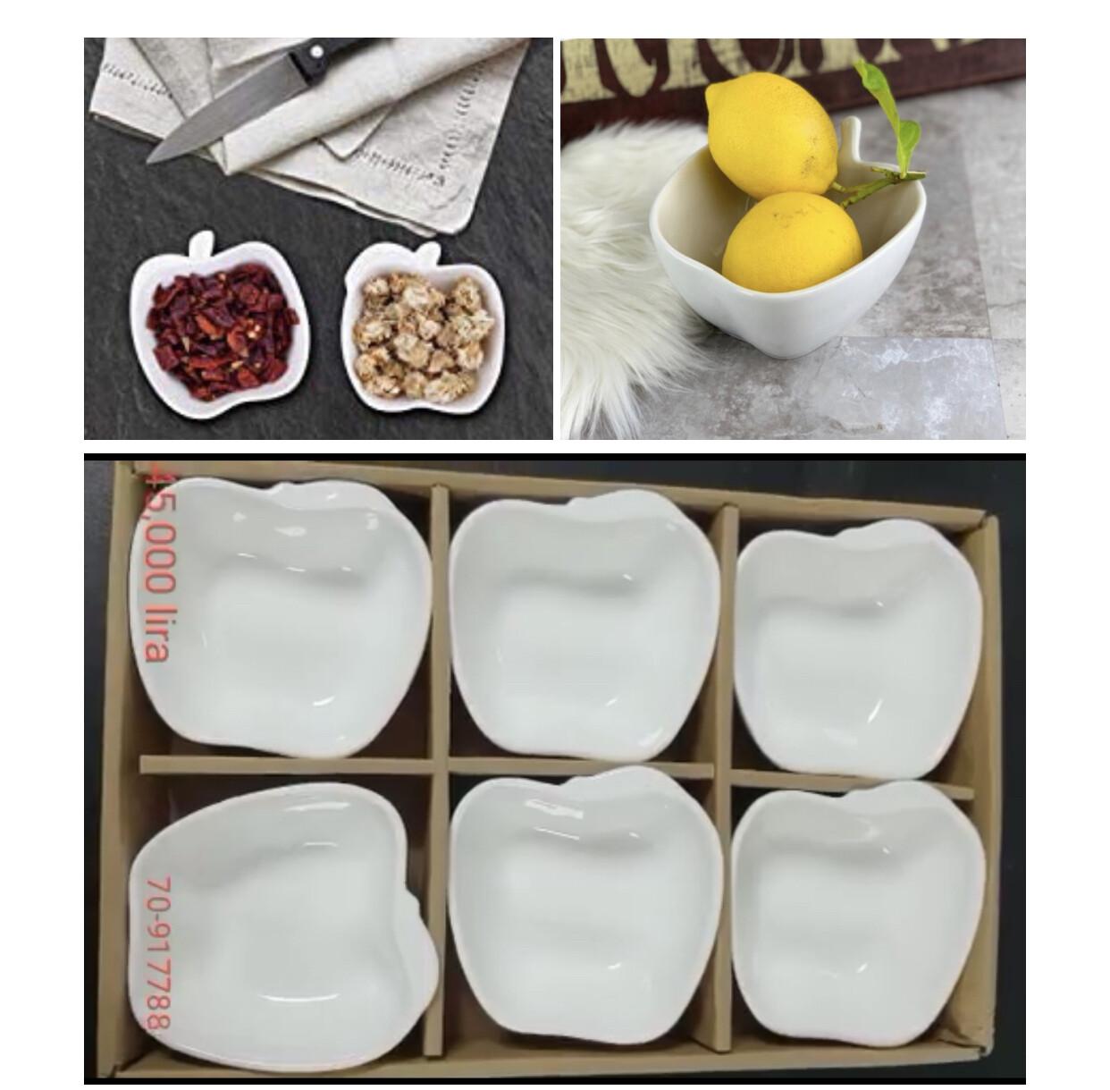 6-Pcs Porcelain Bowls