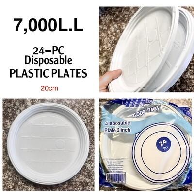 24-Pc Disposable Plates