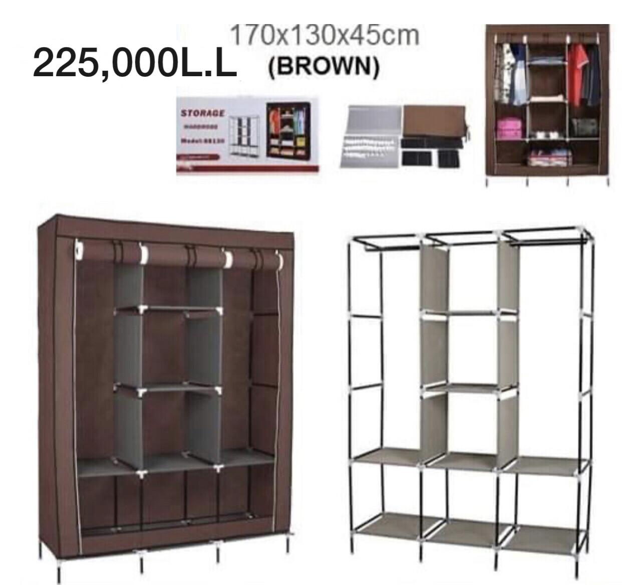Storage Wardrobe 88130B (BROWN)