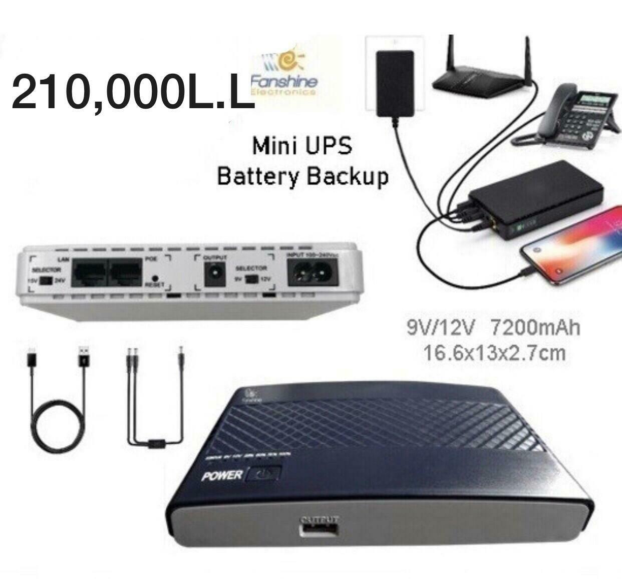 Mini UPS Battery Backup
