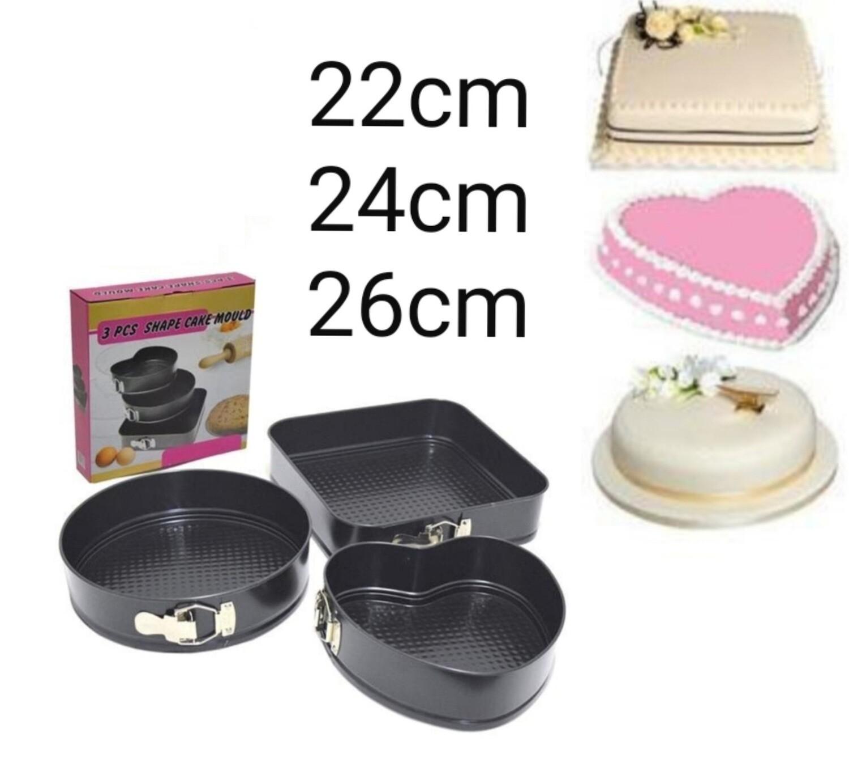 3-pcs shaped cake set