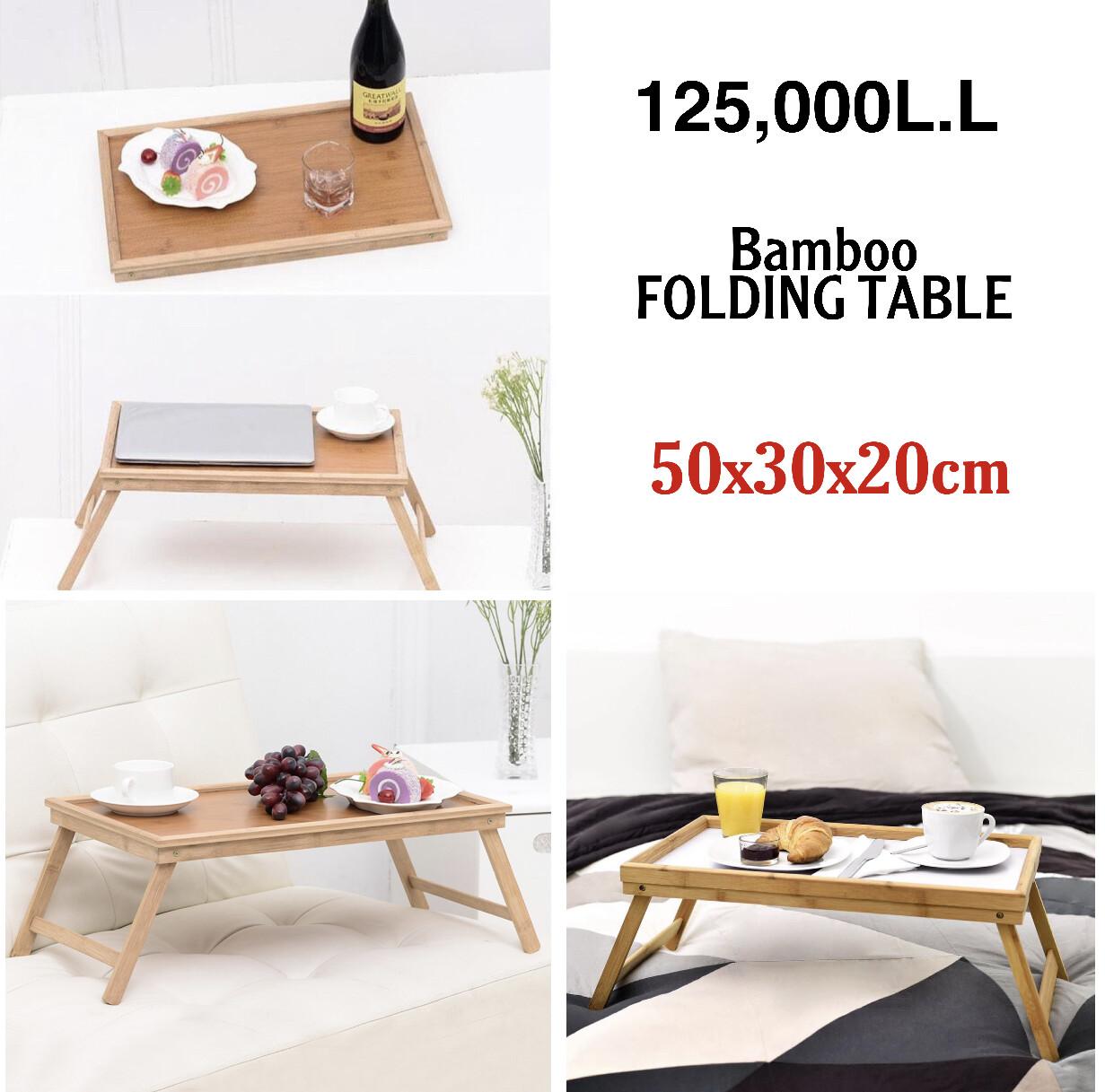 Folding Bamboo Table