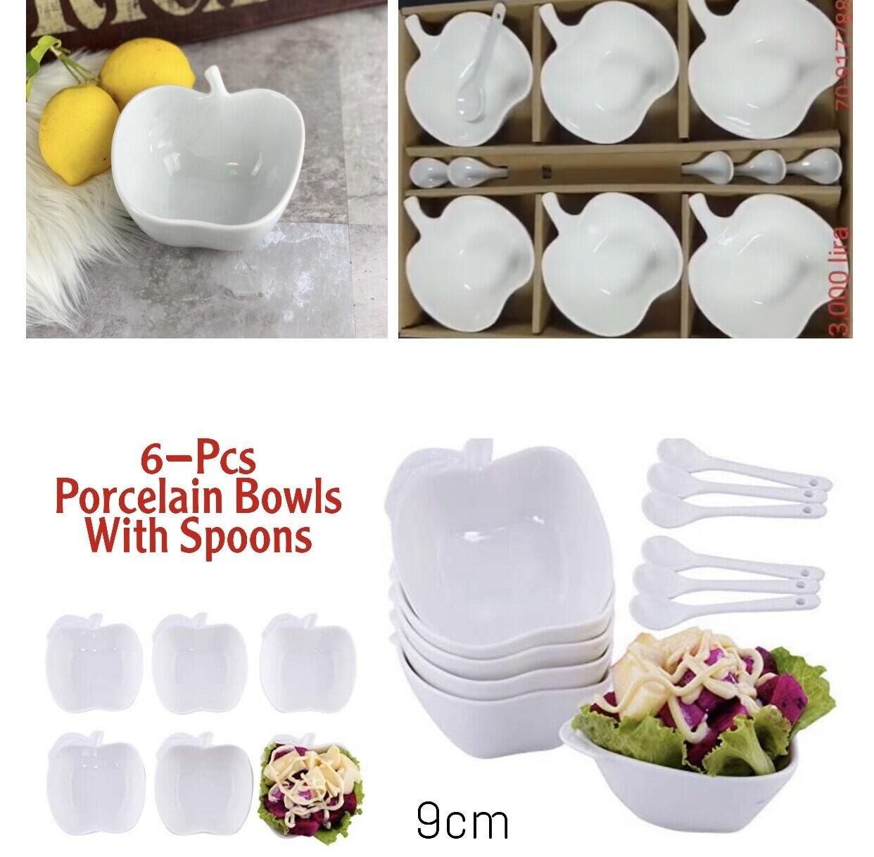 6-Pc Bowls w/Spoons