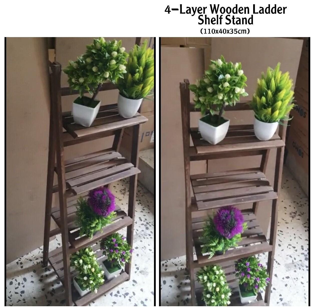 4-Layer Ladder Shelf