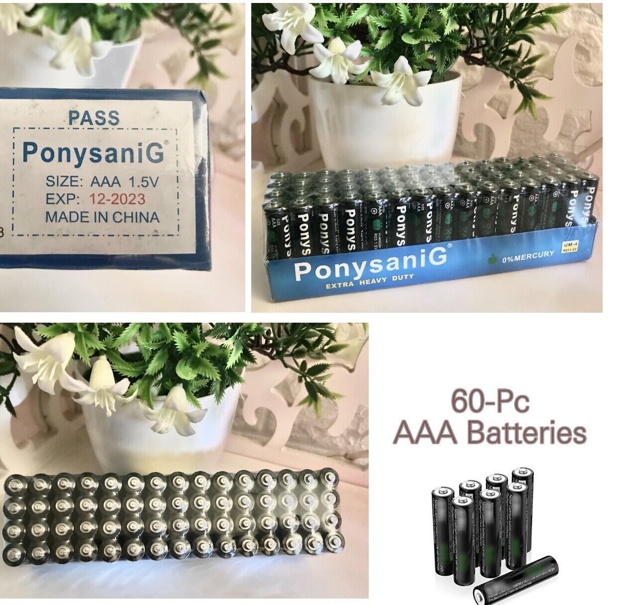 60-Pc AAA Batteries