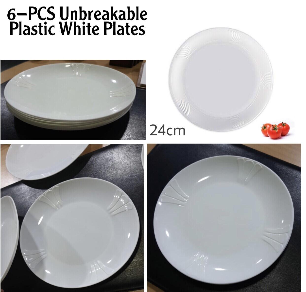6-PCS Plastic Plates