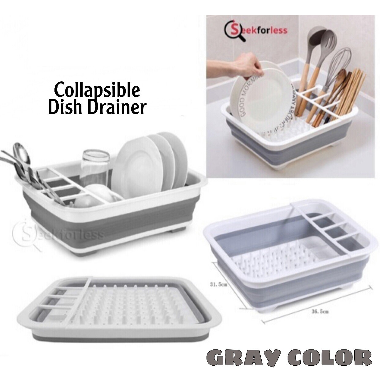 Collapsible Drainer (Gray)