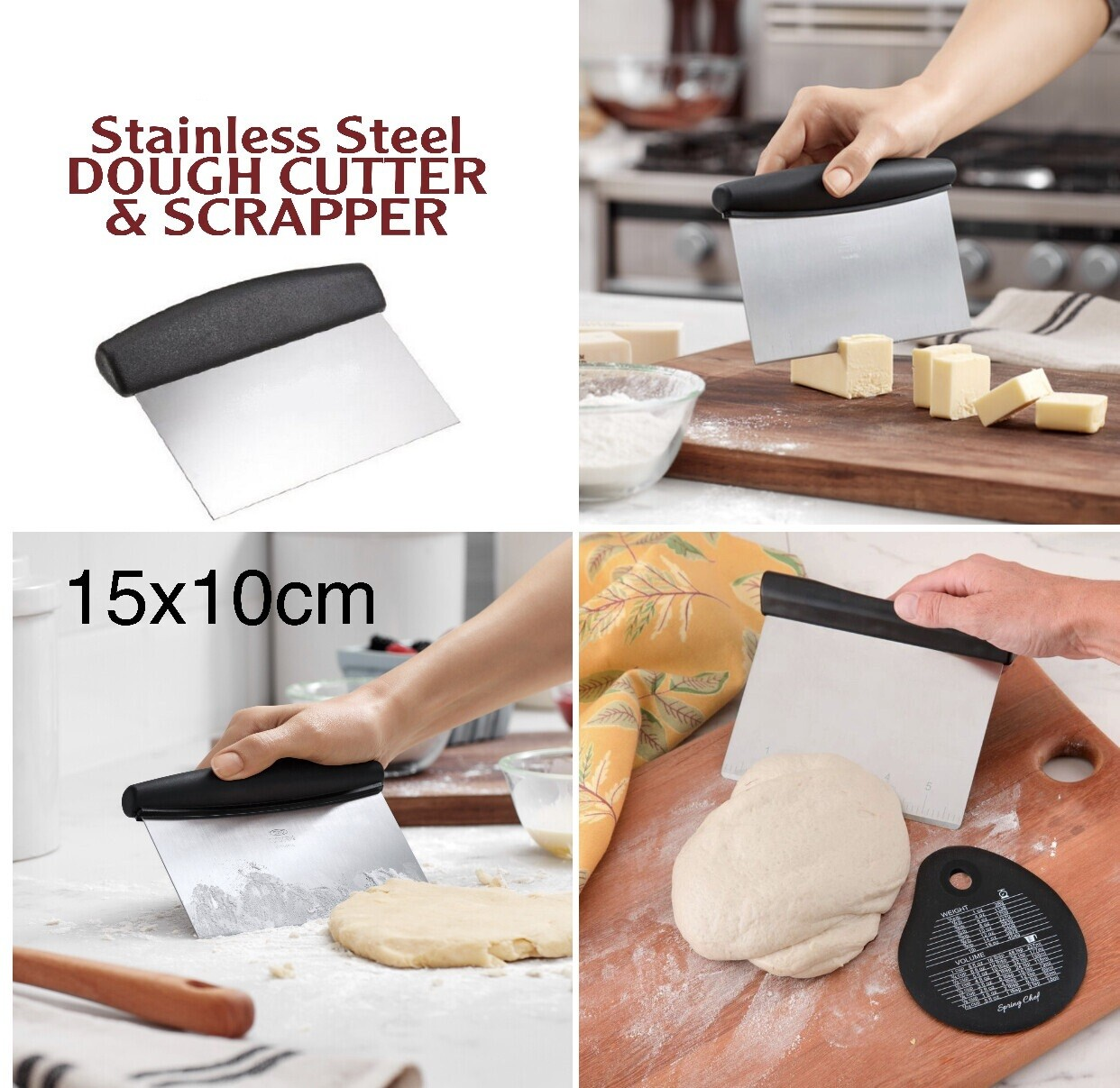 Stainless Dough Cutter