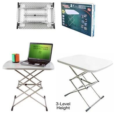 Adjustable Folding Table