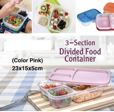 3-Section Food Container
