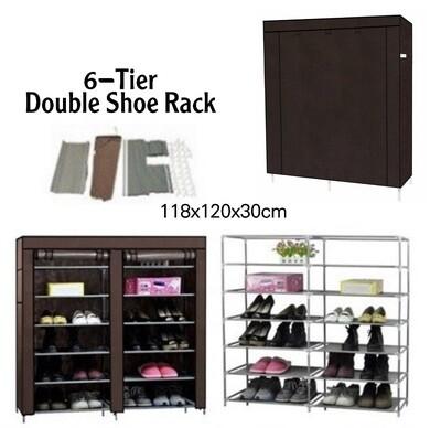 6-Tier Double Shoe Rack