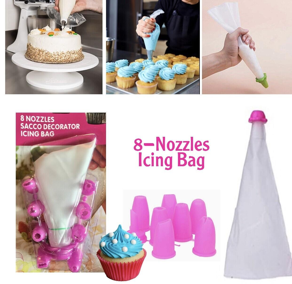 8-Nozzles Icing Bag