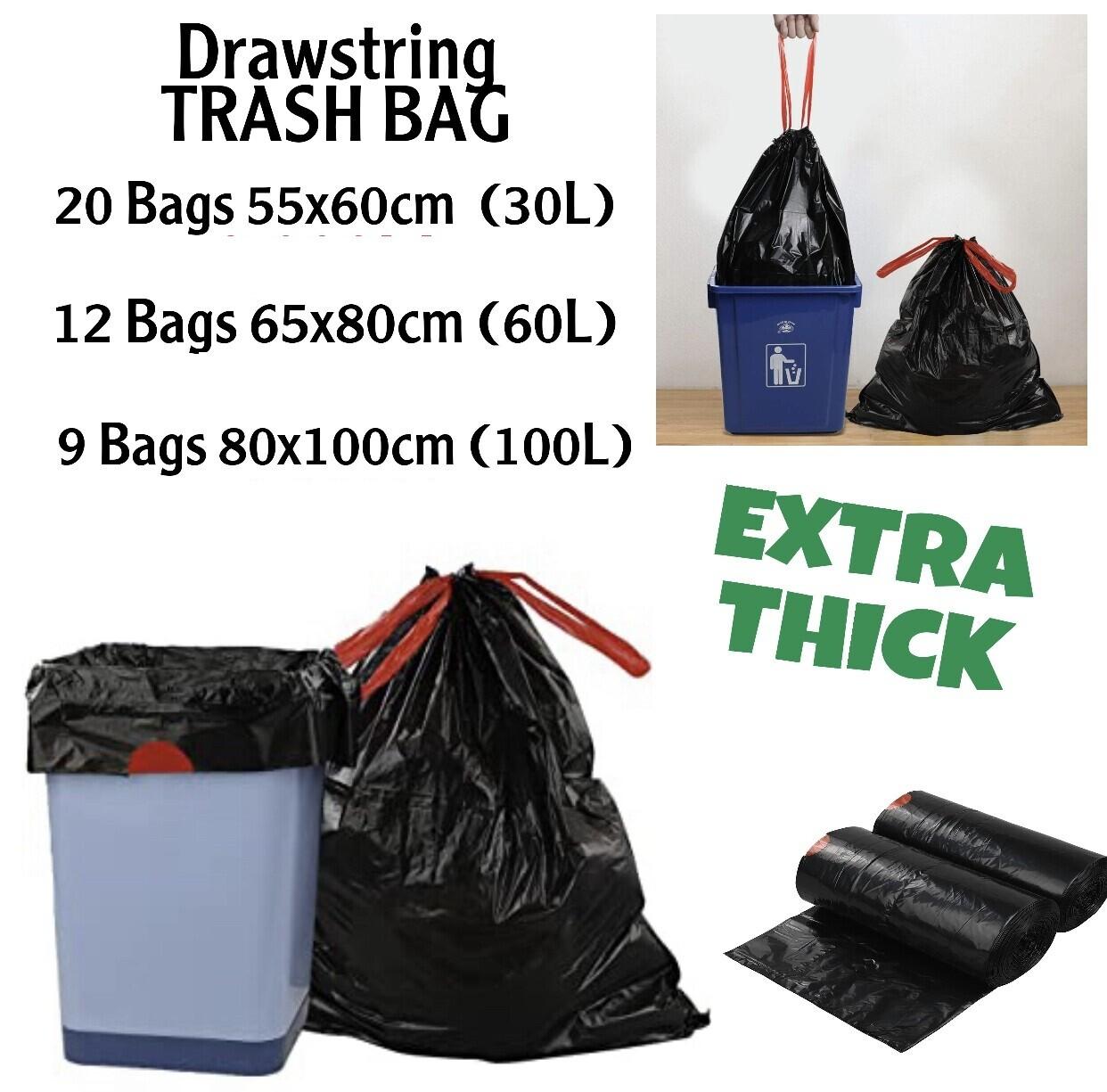 Drawstring Trash Bags (Thick)