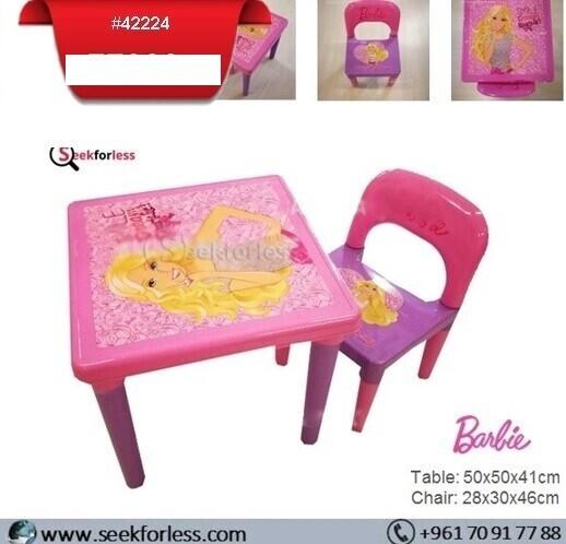 Plastic Table/ Chair (BARBIE)