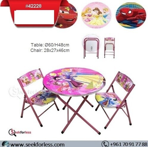 Round Table/ 2 Chairs