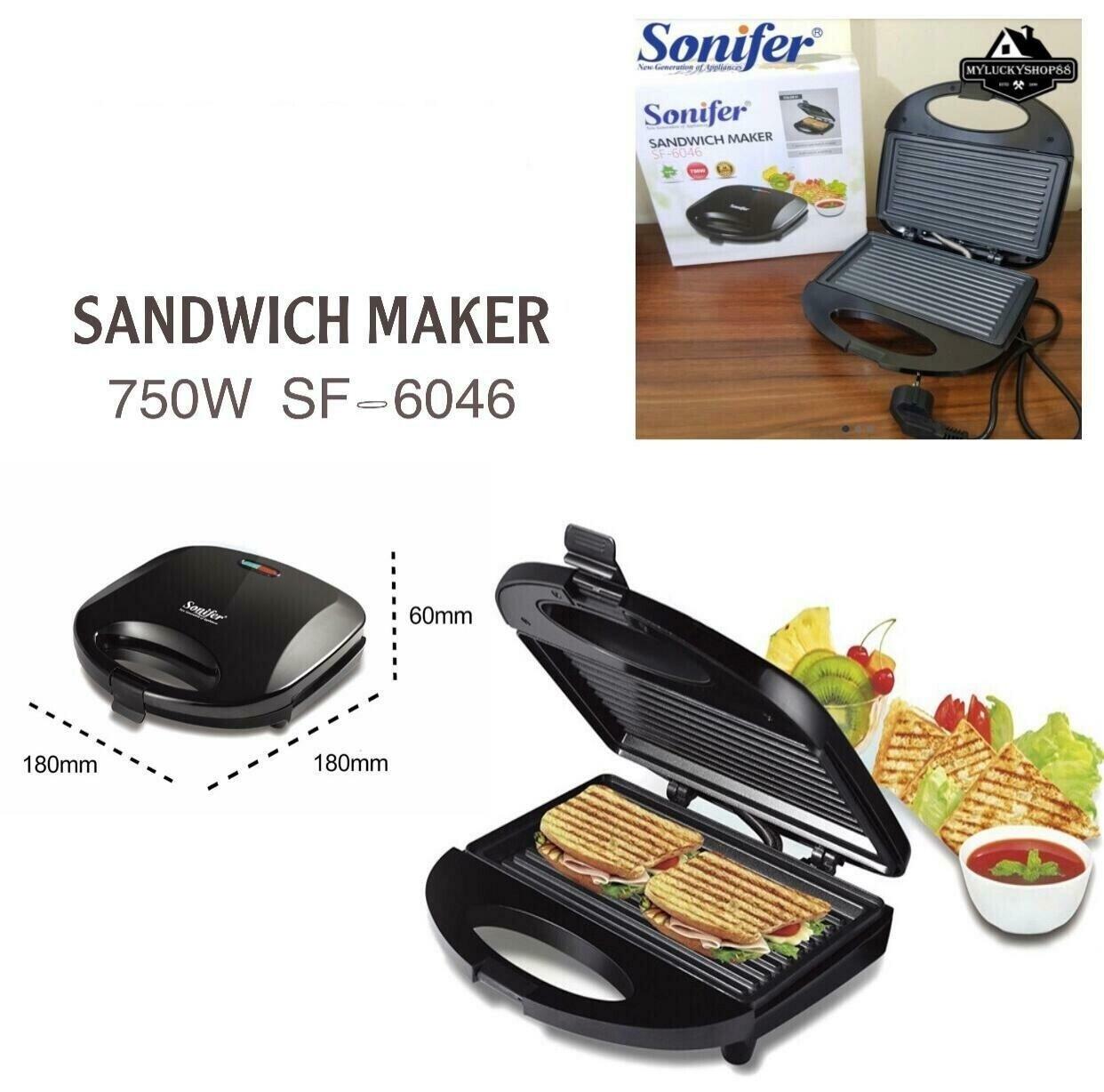 """SONIFER Sandwich Maker (SF-6046)"