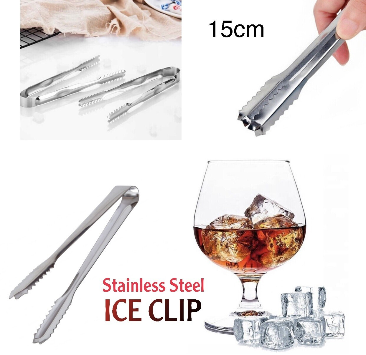 Stainless Steel Ice Clip