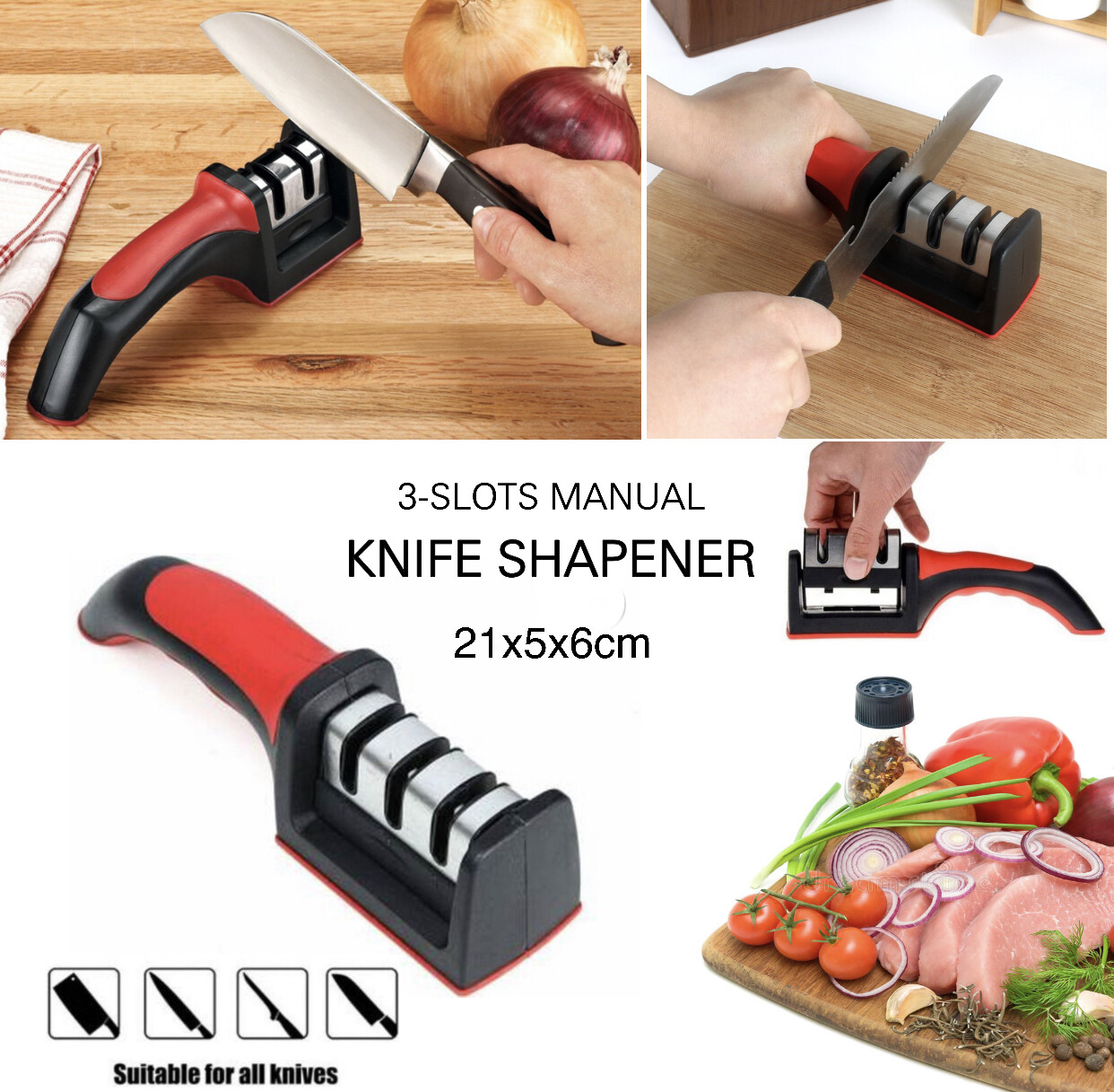 3-Slots Knife Sharpener