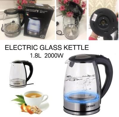 """DESSINI Glass Kettle"