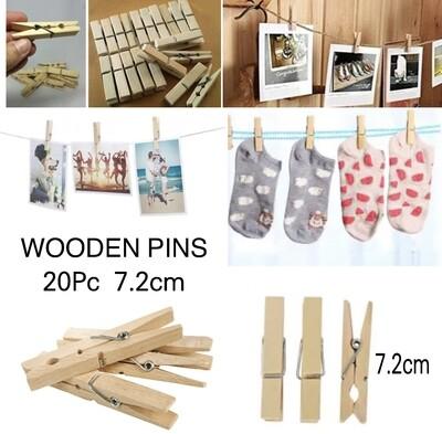 Wooden Pins 7.2cm