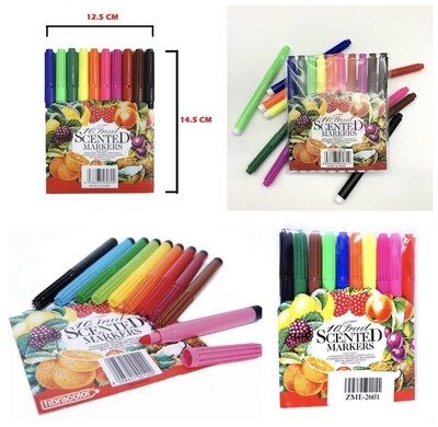 12Pc Scented Markers