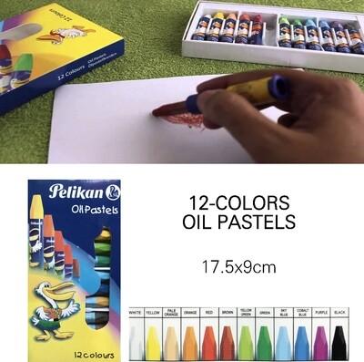 12-Pc Oil Pastel Colors