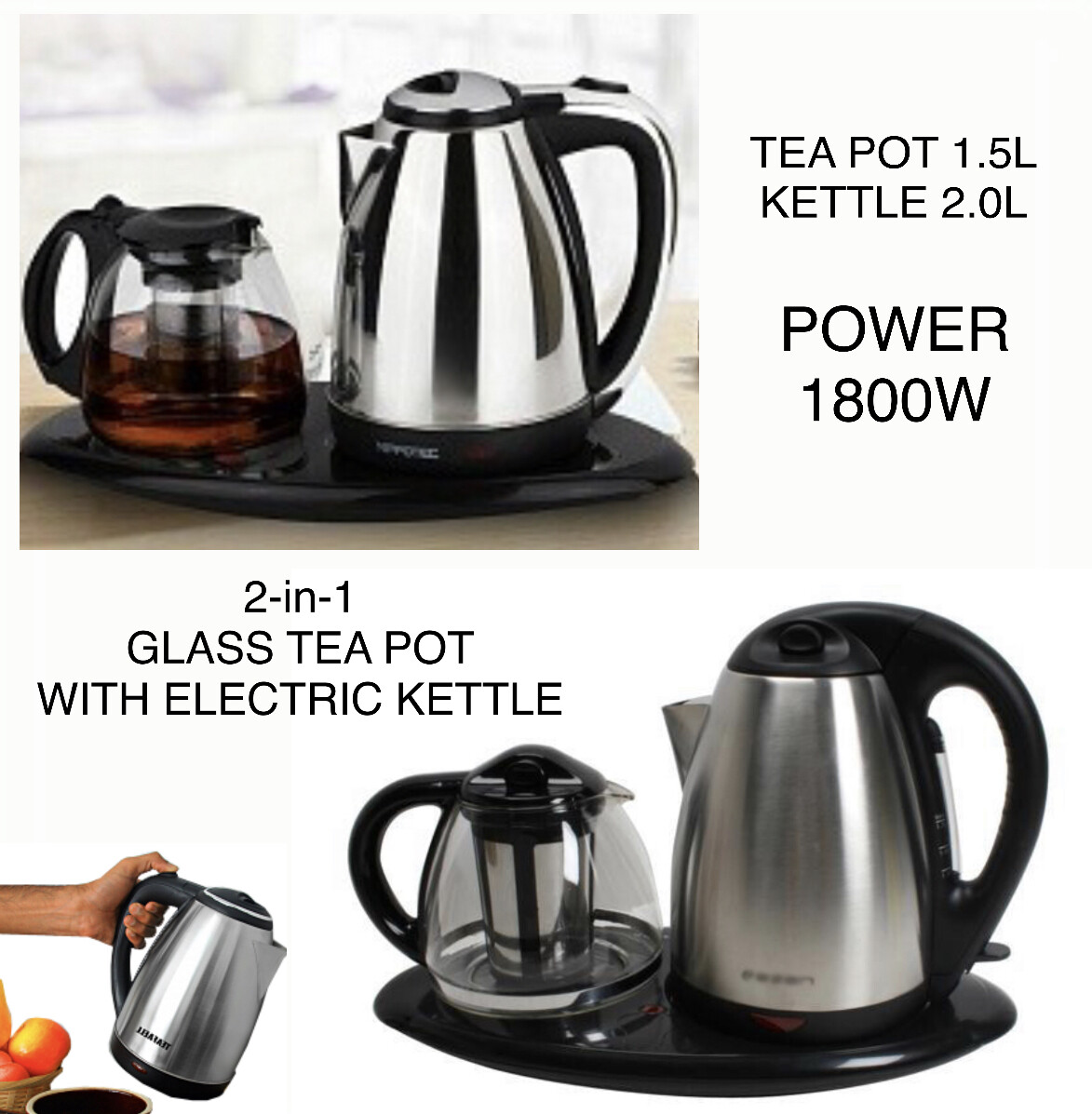2 in 1 Tea Kettle Set