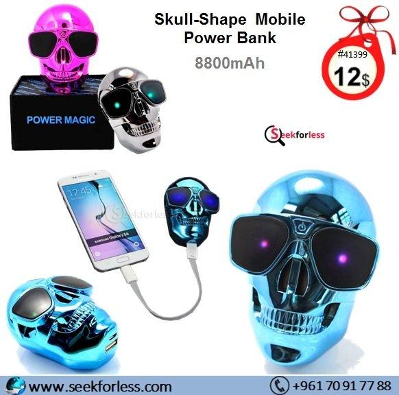Skull Shape Mobile Power Bank 8800mah
