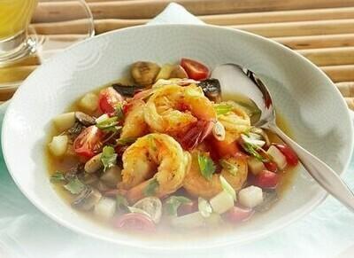 Shrimp & Mushroom Curry Soup
