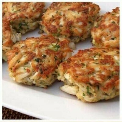 Crab Cakes and Spring Mix