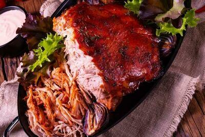 BBQ Pulled Pork with Greek Yogurt Slaw