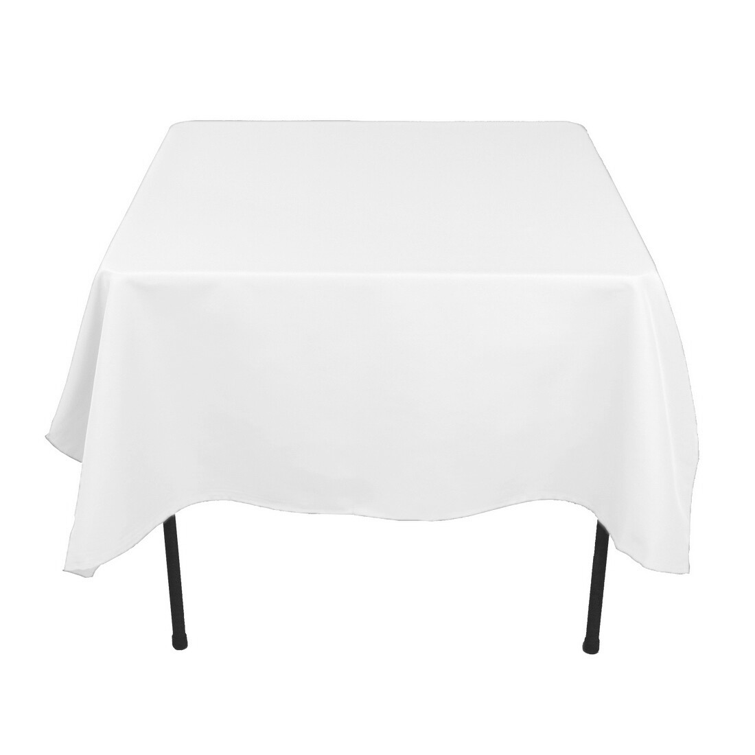 """Polyester table fabric - White, 60"""" (per yard)"""
