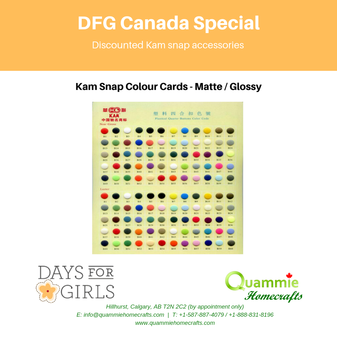 DFG Canada Special - Kam snap colour cards - Glossy / Matte