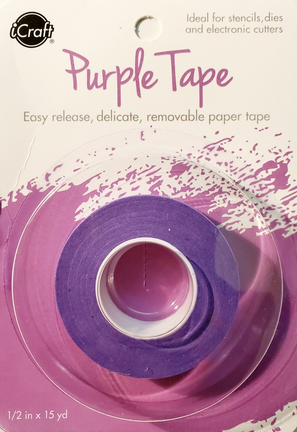 "iCraft Purple Tape, Removable - 1/2"" x 15 yd"