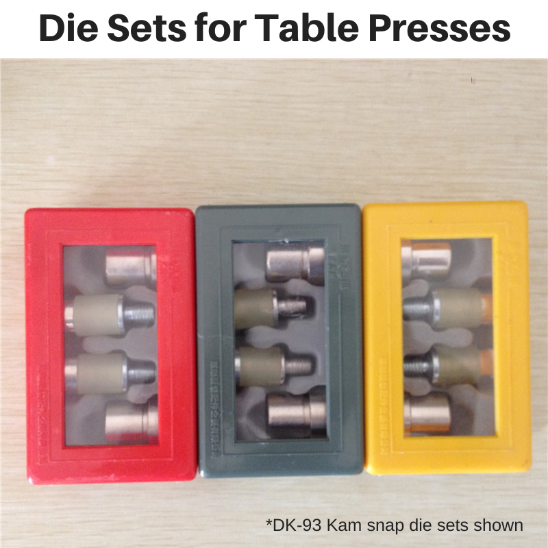 Die Sets (for Table Presses)