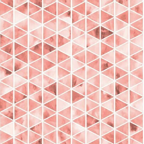 Cotton Lycra Jersey - Watercolour Triangles - Dusty Rose